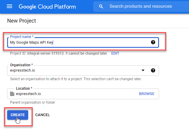 Create a New Project -2 - Generate Google Maps API Key and Display Maps in Oshine