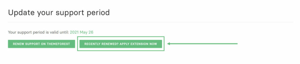 Oshine - Apply for Support Extension