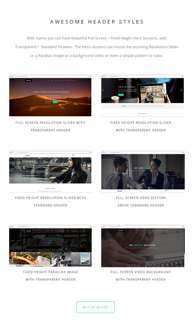 NAMO - Creative Multi-Purpose WordPress Theme