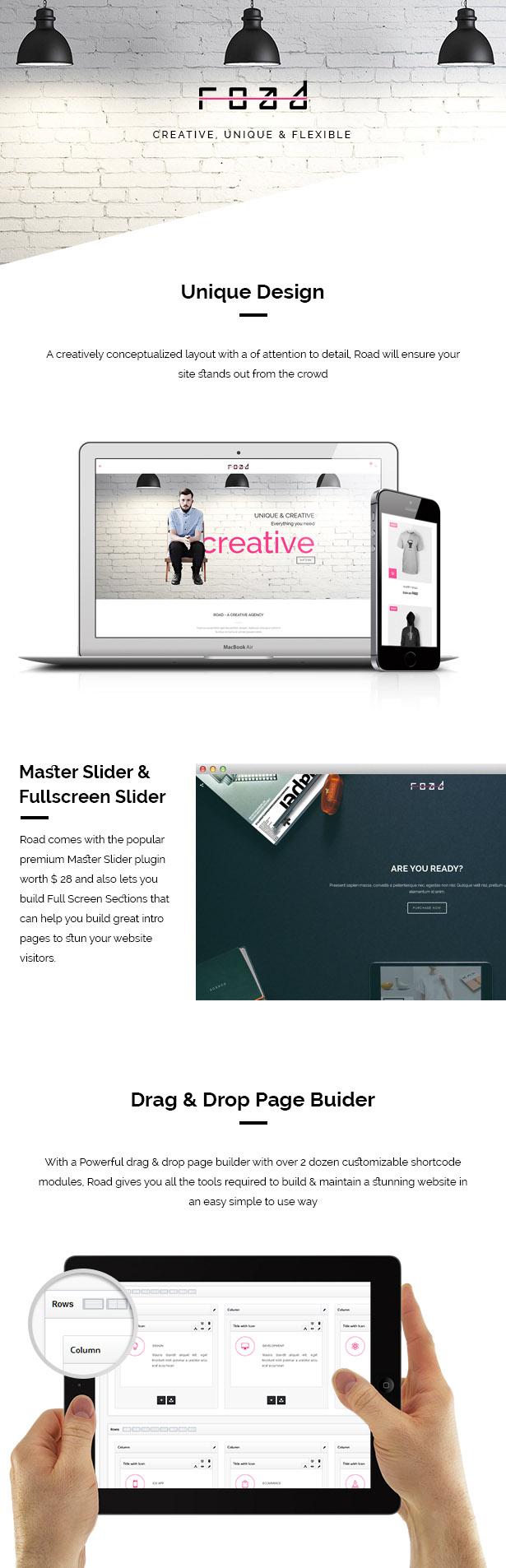 WordPress theme Road - Agency / Photography Portfolio Theme (Portfolio)