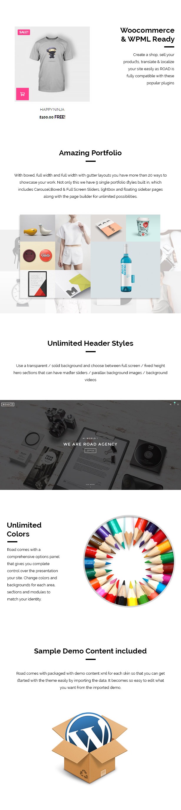 Road - Agency / Photography Portfolio Theme